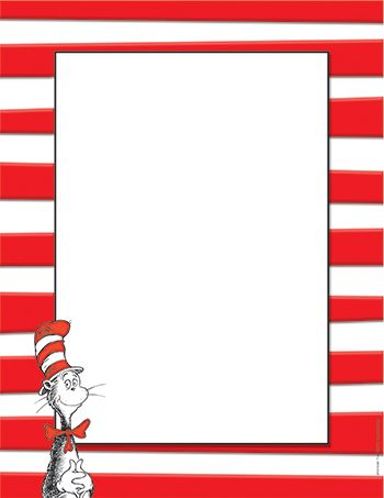 dr seuss printable paper | DR SEUSS THE CAT IN THE HAT COMPUTER PAPER - EU-812110