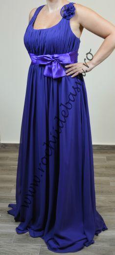 Rochie de seara mov, incretita in talie #rochiidesearamov #rochiidesearafaraaplicatii #mauveeveningdresses