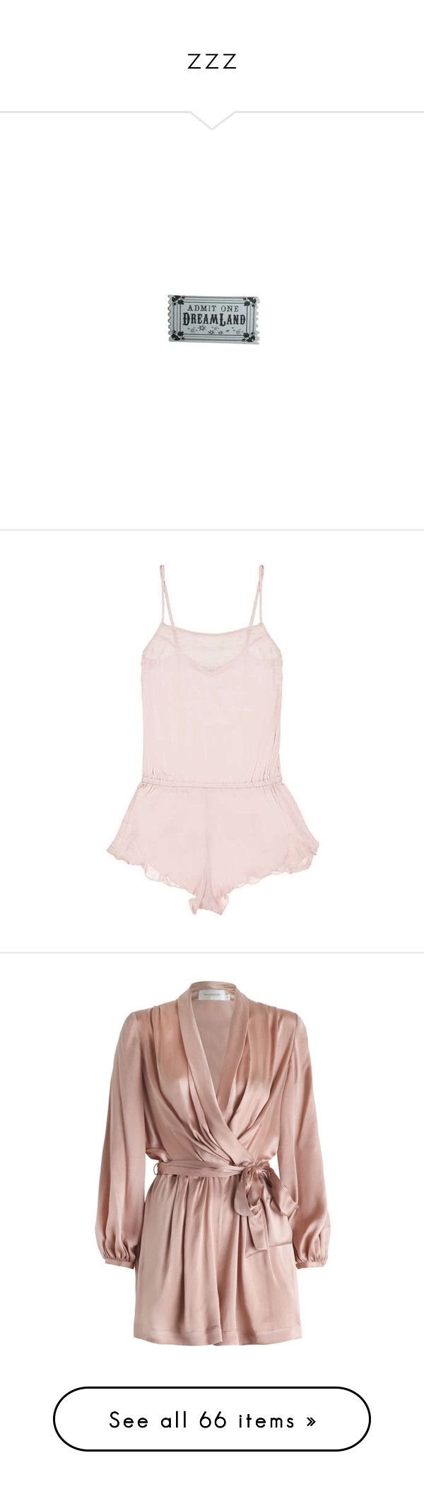 """""""zzz"""" by shiitstorm ❤ liked on Polyvore featuring intimates, eberjey, teddy lingerie, holiday lingerie, jumpsuits, rompers, dresses, playsuit, zimmermann and draped jumpsuit"""