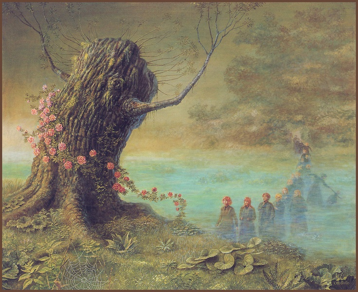 Otto Frello, Danish painter, artist, fantasy, imagination, famous.
