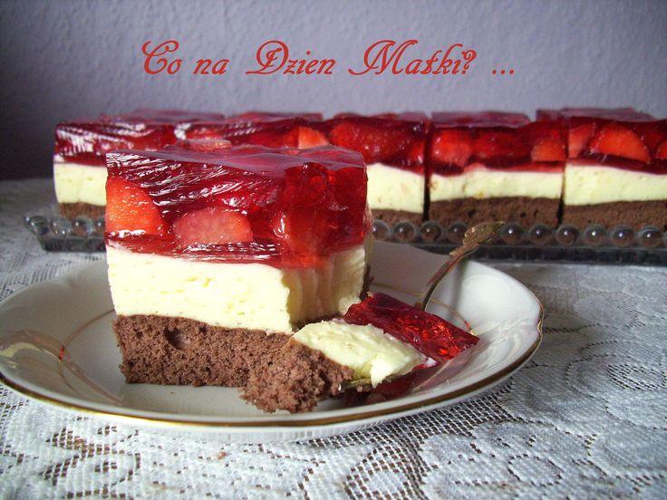 Ciasto truskawkowo – brzoskwiniowe PRZEPIS