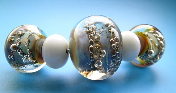 Gorgeous glass beads from Glass Malarky on Etsy
