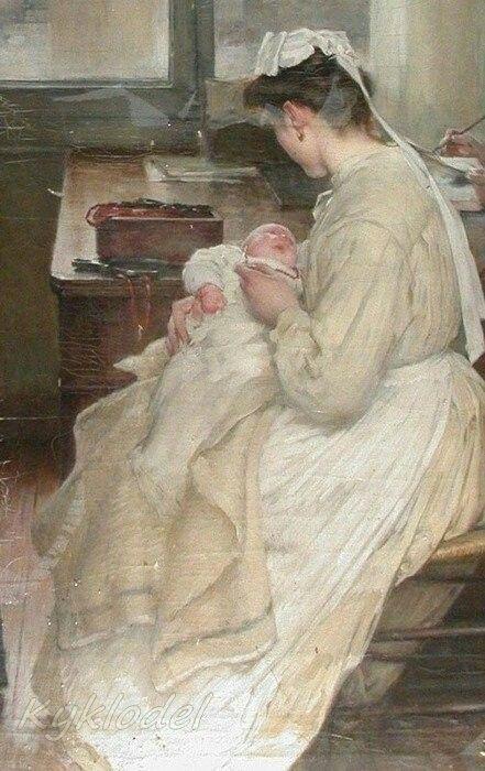 Henry Jules Jean Geoffroy (French, 1853–1924) L'orphelinat