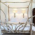 Ces deux lits ont été réalisées pour l'hôtel leMas de la Fouque situé en Camargue, aux Saintes Maries de la mer. ...
