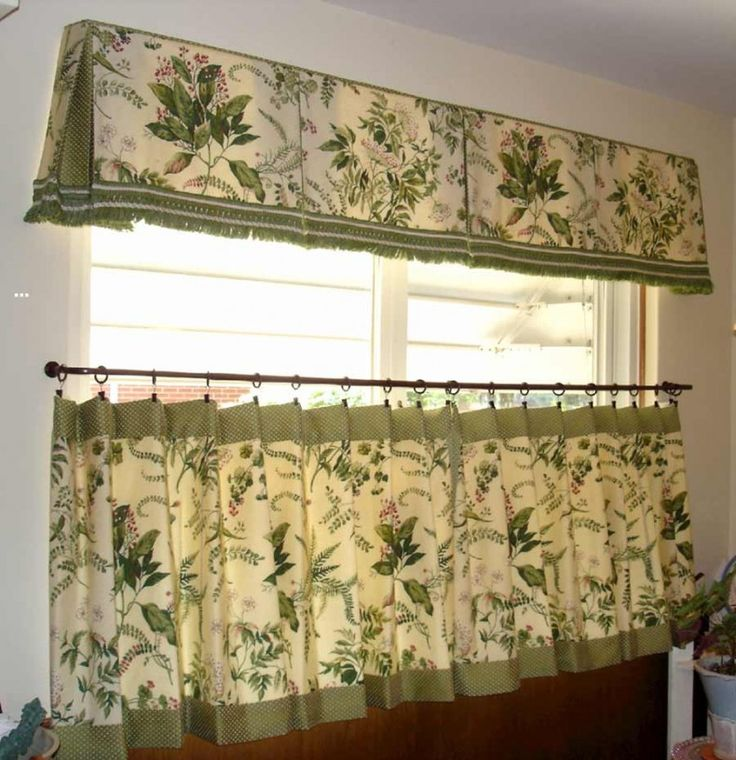 Cafe Curtain Idea For Window Over Sink In The Kitchen