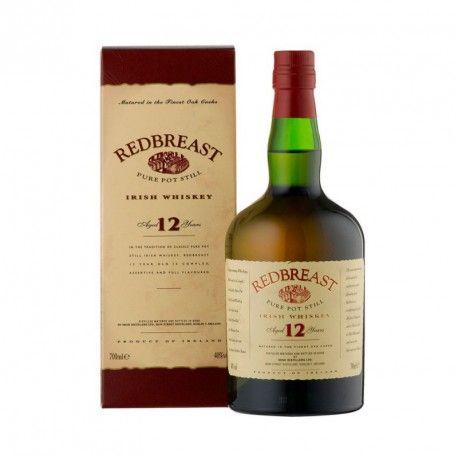 REDBREAST 12 AÑOS  es un whiskey irlandés destilado en un solo alambique. Es una mezcla de viejos whiskeys envejecidos en barriles de Jerez, de los que la mezcla más joven es de 12 años. Redbreast 12 años de edad es es una entrega bastante exclusiva y de edición limitada. Tiene numerosos premios.
