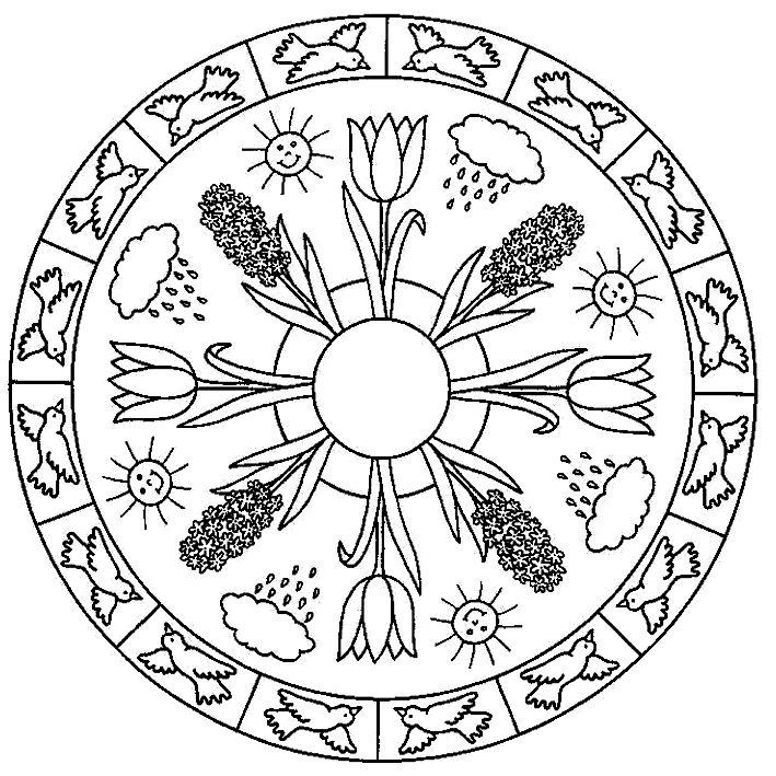 food coloring mandalas | Coloring Page - Mandala coloring pages 12