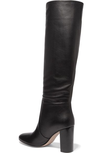Gianvito Rossi - 85 Leather Knee Boots - Black