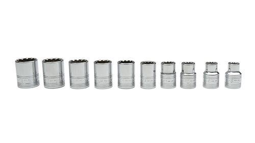 SK Tool SK3971 10pc 3/8in Drive Metric Spline Socket Set