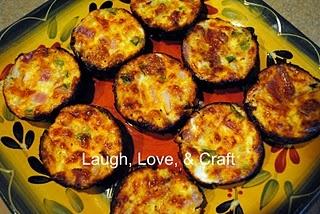 Crustless mini quiche muffins