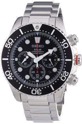 Men watches: Best watches for men SEIKO SSC015P1 Men's Solar Chronograph,Rotating Bezel,200m WR,SSC015