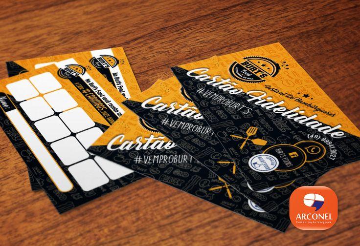 Saindo do Forno. Cartões de visita - @Burts food Artesanal de Rua. Cartão fidelidade. Impresso em papel supremo e com verniz na parte frontal. Sim o cartão é brilho e fosco ao mesmo tempo.