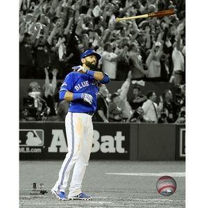 Jose Bautista Spotlight Bat Toss Moment 8x10 Photo