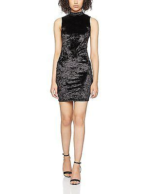 8, Black, Miss Selfridge Petite Women's Velvet Dress NEW