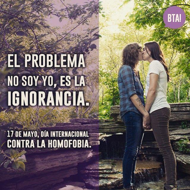 En México se cometen al año más de 120 homicidios por homofobia. ¡Ya basta! El problema no soy yo, es la ignorancia. #BTA #Mujeres #bi #lesbianas #nohomofobia #lesbian #girls #kiss #love #amor #pareja #couple