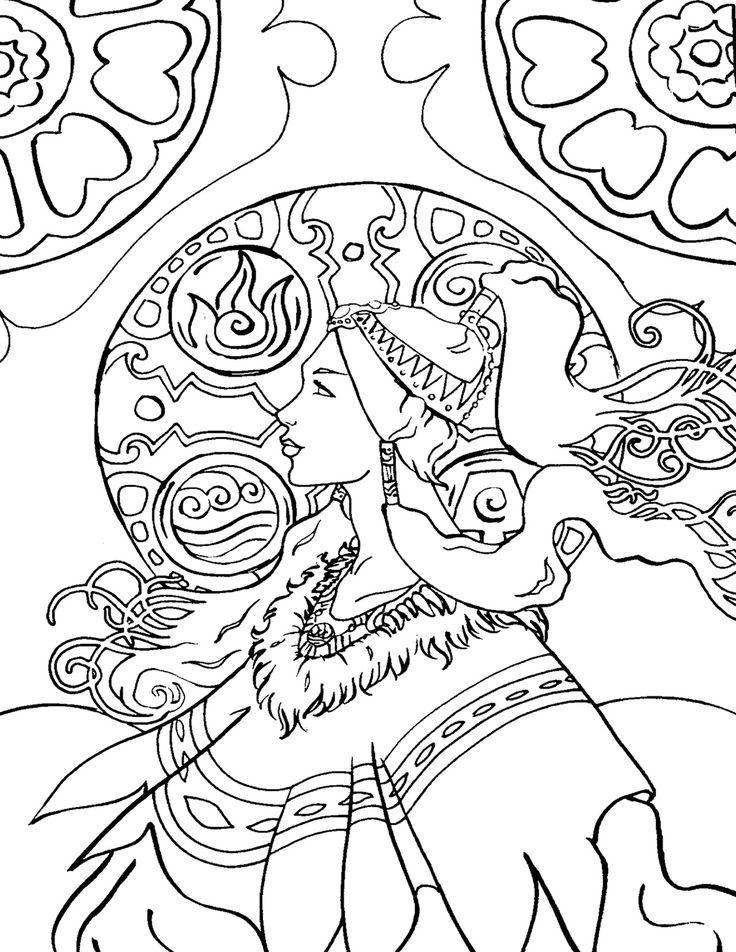81 Art Nouveau Coloring Page