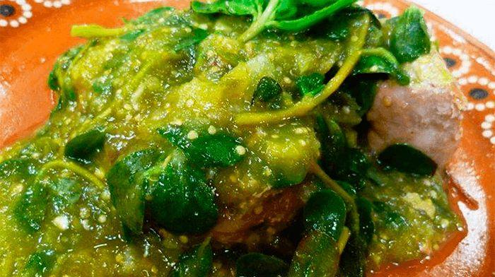 Verdolagas en salsa verde