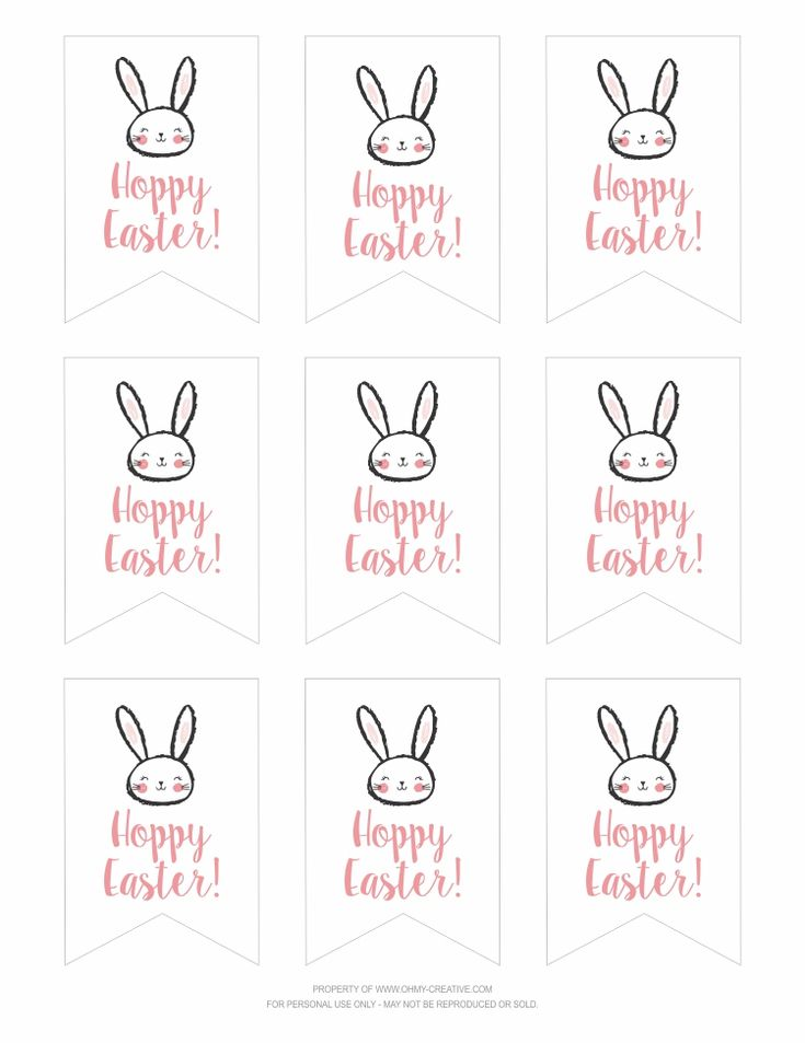 Best 25 hoppy easter ideas on pinterest easter holidays 2017 free printable hoppy easter gift tags negle Choice Image