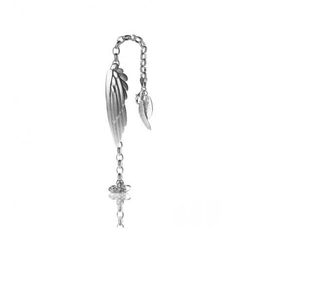 Sterling Karearea Wing Bracelet by New Zealand jewellery designer Boh Runga.