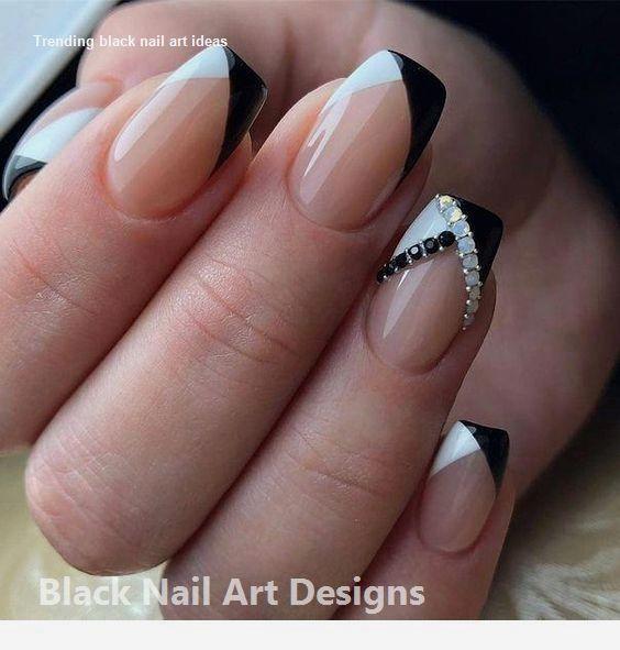 20 Simple Black Nail Art Design Ideas  #nailartideas #nails