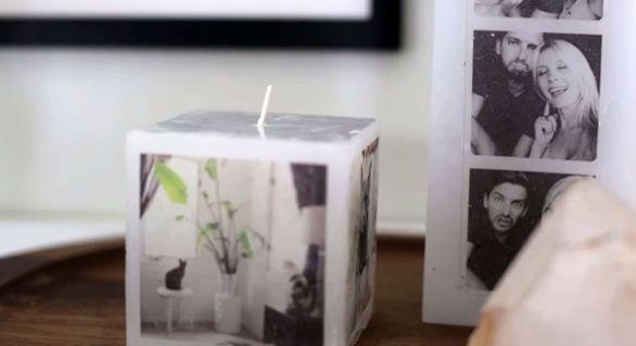 Tip na dárek (nejen k Vánocům): Vlastnoručně vyrobená svíčka s vašimi fotkami | g.cz