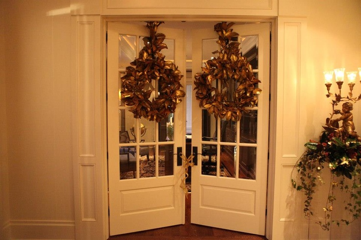 Christmas decorations for the door