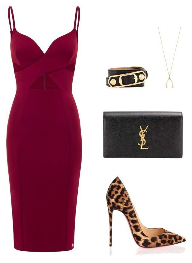 Untitled #436 by nadiralorencia on Polyvore featuring polyvore moda style Aloura London Christian Louboutin Yves Saint Laurent Jennifer Meyer Jewelry Balenciaga fashion clothing