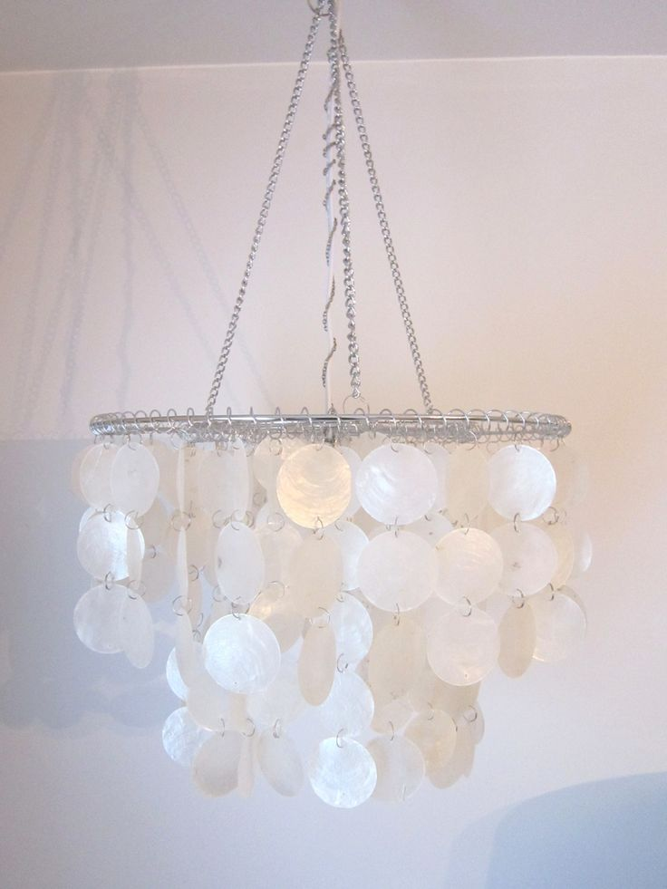 capiz shell chandelier hack ... awesome ... thehoneycombhome