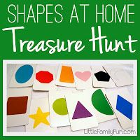 SHAPES // Easy Treasure Hunt Games for preschoolers