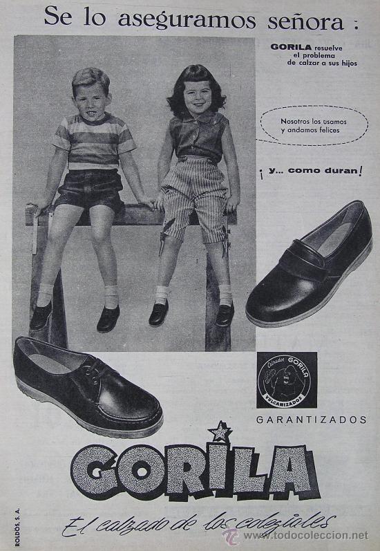 Zapatos Gorila - publicidad de los años 60