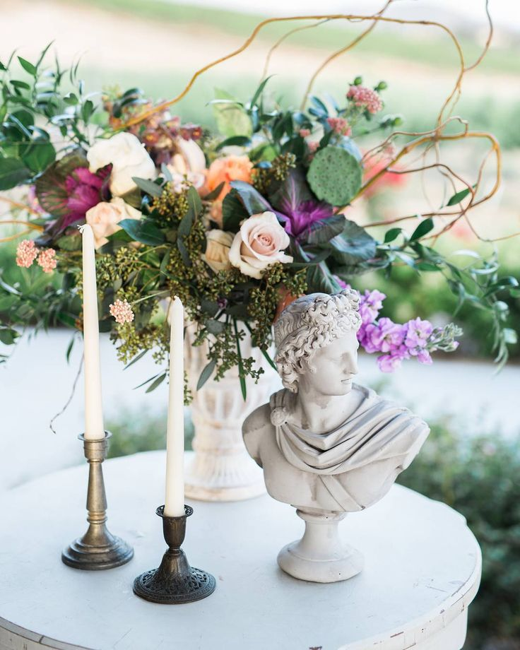 Side table goals! Our Gresham Candlesticks  Sullivan Table perfectly accented this beautiful floral arrangement by @losangelesfloralcouture!  Venue: @avensolewinery | Design & Planning: @novelty_events | Photography: @brianlabrada | Florals: @losangelesfloralcouture | Furniture Rentals: @sweetsalvagerentals | Floral pedestals: @bakerparty | Tux: @friartux | Gown: @eddyk_bridal @marymebridal | HMUA: @glamarazzigirl | China & Glassware: @cherishedrentals | Linens: @modmixstudio | Stationery…