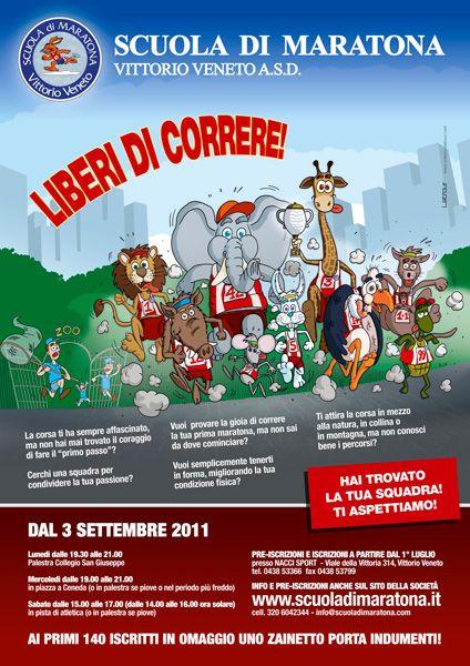 Scuola di Maratona - poster Realizzazione grafica