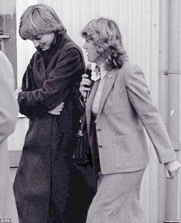 Lady Diana Spencer and Camilla Parker-Bowles at Ludlow racecourse  in 1980. She advised Charles to marry the Little Mouse!