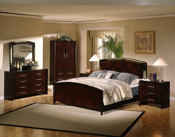 Темная мебель в светлой спальне фото