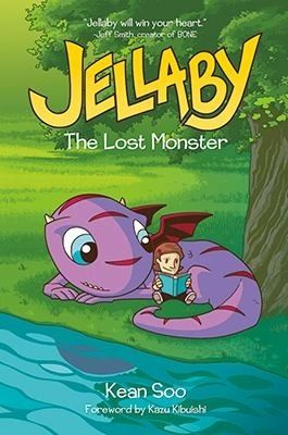 """""""Jellaby. Volume 1: The lost monster"""", Kean Soo - Quiet, brilliant Portia has just moved to a new neighborhood with her mom. Adjusting to life without a father is hard enough, but school is boring and her classmates are standoffish -- and even Portia's mom is strangely distant. But things start looking up when Portia mounts a late-night excursion into the woods behind her house and discovers a shy, sweet-natured purple monster."""