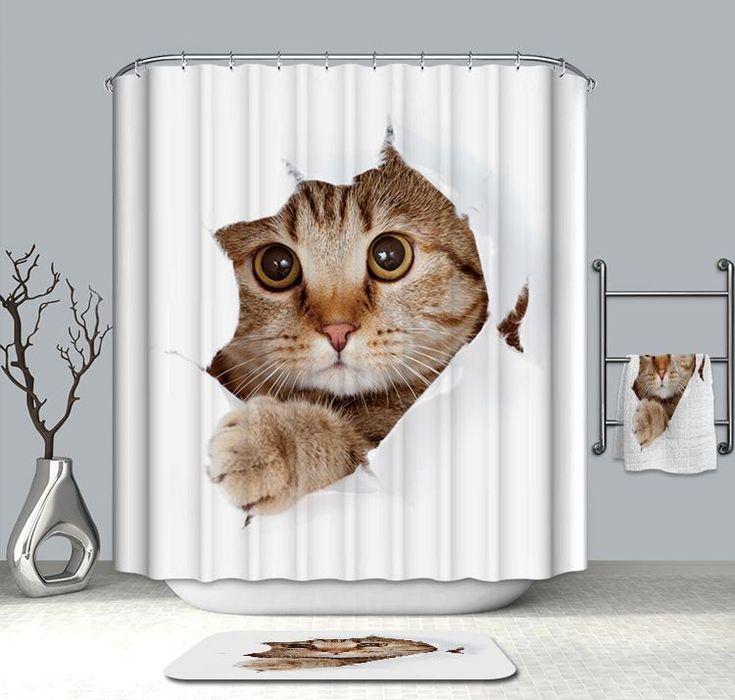 15 cat shower curtain ideas cat
