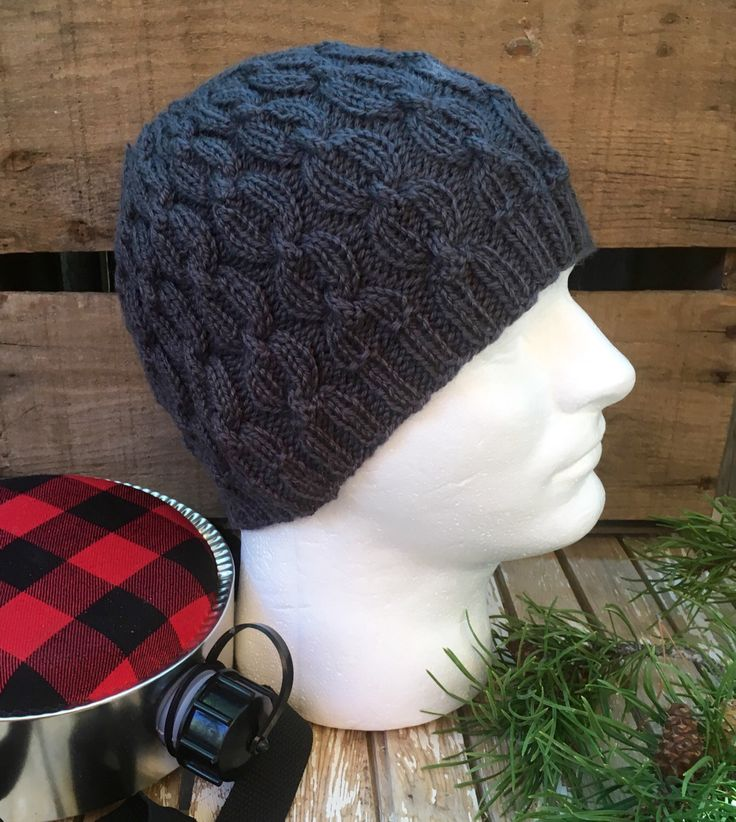 A personal favorite from my Etsy shop https://www.etsy.com/listing/472381427/mens-beanie-mens-hat-knit-hat-knitting