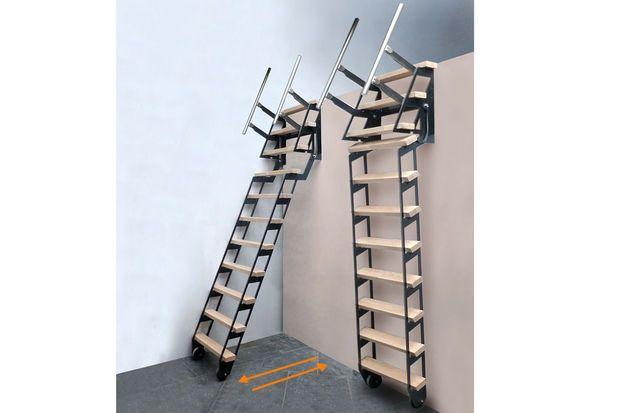 Je hebt niet altijd evenveel plaats om een volwaardige trap te voorzien, bijvoorbeeld naar de zolder of een mezzanine waar je niet elke dag moet zijn.