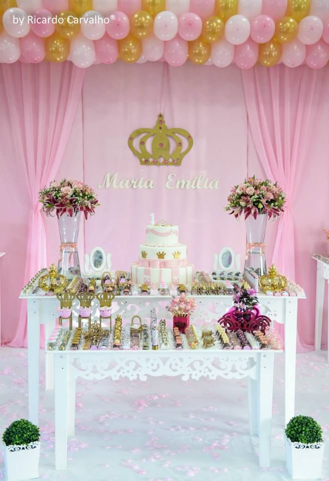 Decora o de festa infantil princesa party decor and for Decoracion de princesas