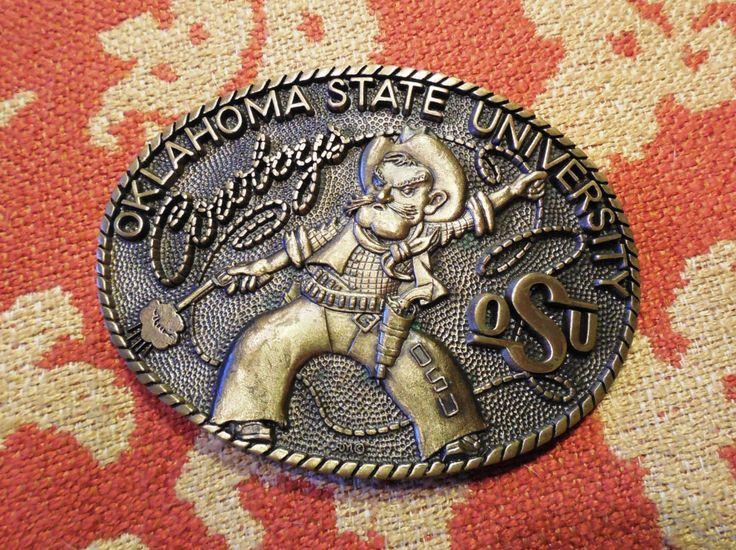 Oklahoma State University-Pistol Pete, Brass Belt Buckle by SeasonFlare on Etsy https://www.etsy.com/listing/119633157/oklahoma-state-university-pistol-pete