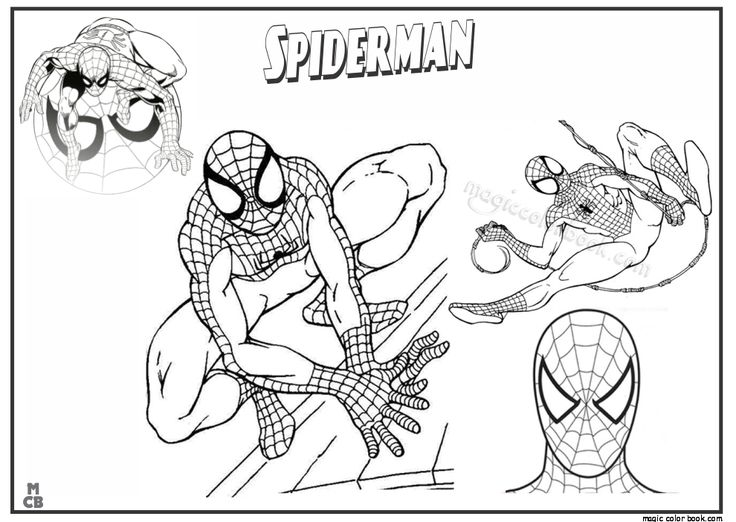 27 best Spiderman Coloring pages free online images on Pinterest - fresh spiderman coloring pages for free
