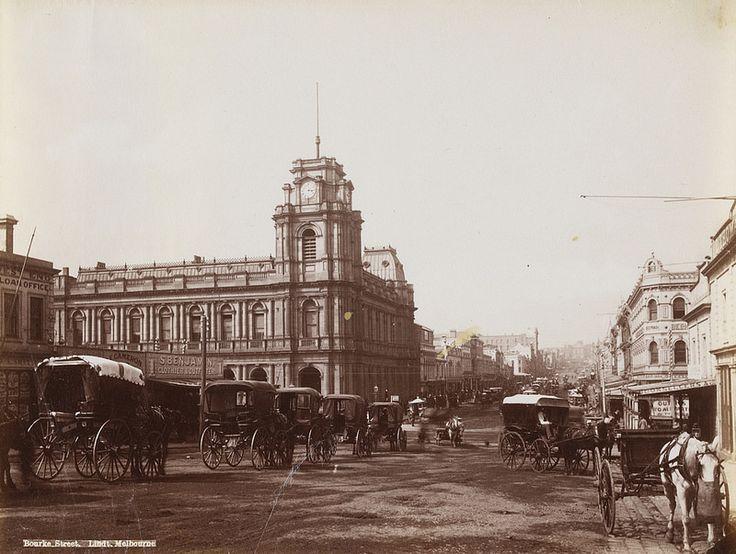 Bourke Street [Melbourne, looking east] c1876-1894. SLV