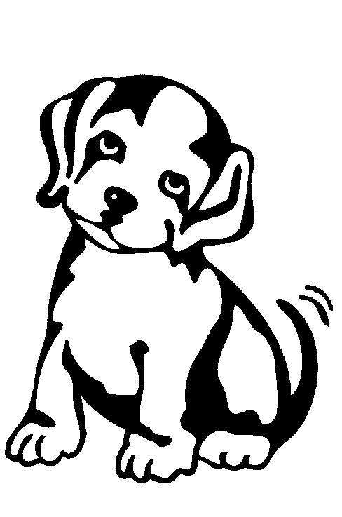 tekeningen van honden om in te