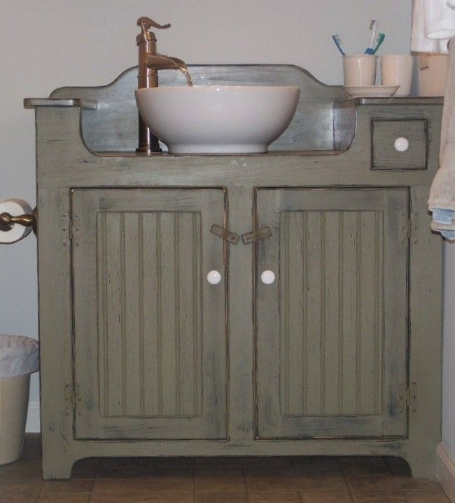 Country Bathroom Cabinets Ideas
