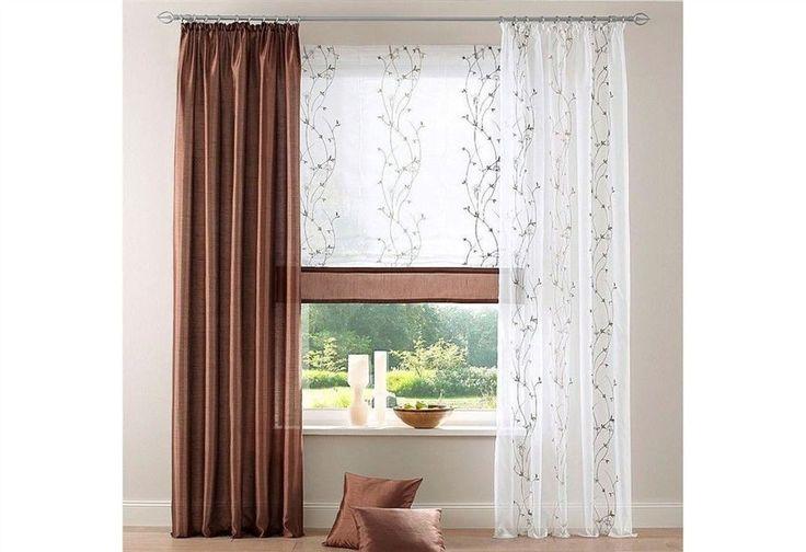 Vorhang mit  Kräuselband -Kayenta- »Wohntextilien Live« Braun in 4 Gr. 145-245cm  | eBay