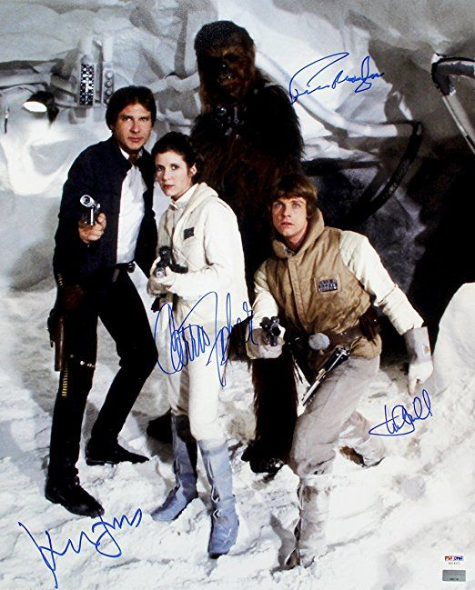 Harrison Ford, Carrie Fisher, Mark Hamill & Peter Mayhew Signed Autographed - Star Wars Gift #starwars #collection #poster