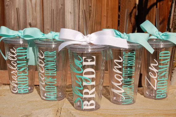 Set of 4 Personalized Tumblers with Names