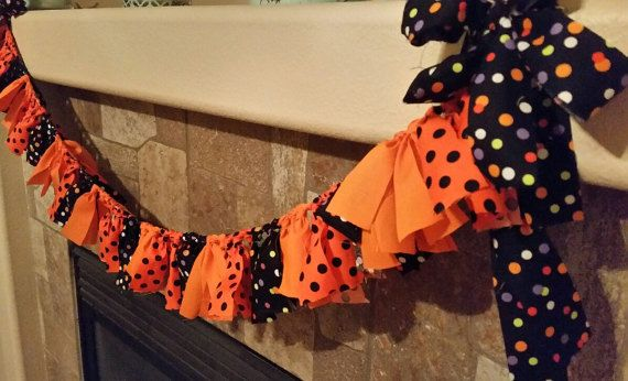 Halloween Bunting Banner Fabric Garland hand made Home