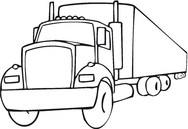 18-Wheeler Coloring Pages | print | Pinterest | Craft