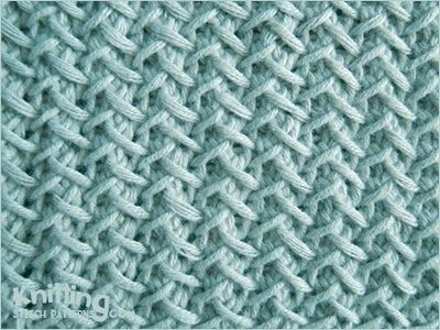 Fancy Herringbone - great pattern for anything that needs to be very flat - it doesn't curl at all